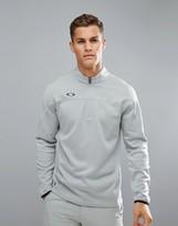 Oakley Golf Gridlock Half Zip Sweatshirt In Grey