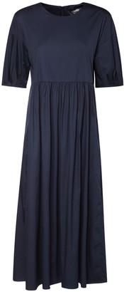 S Max Mara Stretch Cotton Poplin Midi Dress
