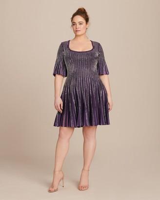 Zac Posen Knit Embroidered Radiant Stripe Dress