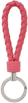 Bottega Veneta Pink Intrecciato Loop Keychain