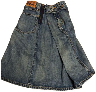 Junya Watanabe Blue Cotton Skirt for Women Vintage