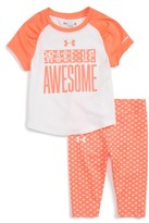 Under Armour Infant Girl's Wake Up Awesome Print Tee & Pants