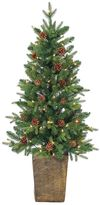 Sterling 4' Potted Natural Cut Georgia Pine Artificial Christmas Tree
