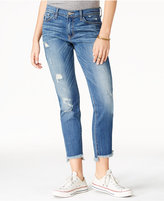 Flying Monkey Ripped Rage Blue Wash Skinny Jeans
