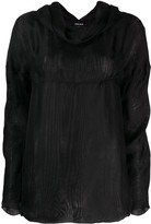 Giorgio Armani Pre Owned 1990's cowl neck longsleeved blouse