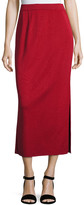 Misook Petite Long Straight Knit Skirt, Vintage Rose