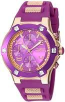 Invicta Women's 'BLU' Quartz and Silicone Casual Watch, Color:Rose Gold-Toned (Model: 24195)