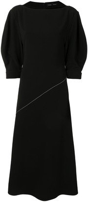 Proenza Schouler Contrast Stitching Detail Midi Dress