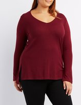 Charlotte Russe Plus Size V-Neck Tunic Top