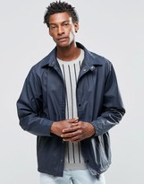 Rains Coach Jacket with Detachable Hood In Blue