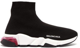 Balenciaga Speed Bubble-heel High-top Sock Trainers - Womens - Black Pink