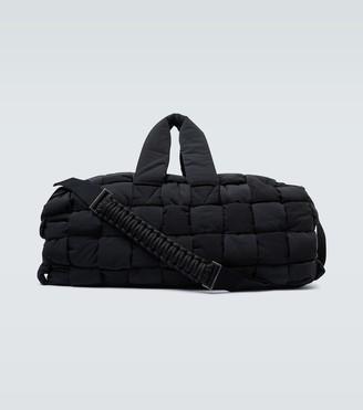 Bottega Veneta Intrecciato nylon duffel bag