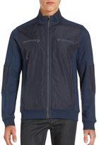 Calvin Klein Long Sleeve Stand Collar Jacket
