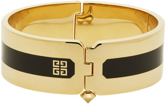 Givenchy Gold and Black Simple Cuff Bracelet