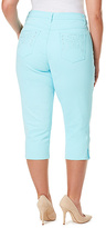 Gloria Vanderbilt Aqua Sky Jordyn Twill Capri Pants - Plus