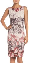 Adrianna Papell Women's Print Embellished Sheath Dress