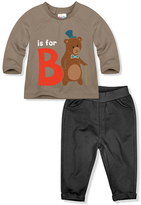 Coffee 'B is for Bear' Tee & Black Pants - Infant & Toddler