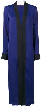 Haider Ackermann black panelled maxi dress