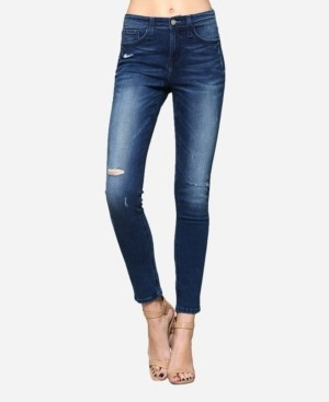 Flying Monkey High Rise Distressed Skinny Jeans