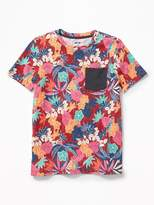 Old Navy Printed Crew-Neck Pocket Tee for Boys