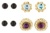 Lagos Interchangeable Gemstone Earrings Set