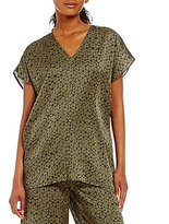 Eileen Fisher V-Neck Cap Sleeve Top