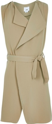 River Island Girls Beige sleeveless duster jacket