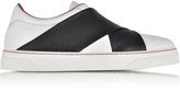 Proenza Schouler White Leather Slip on Sneaker w/Elastic Band