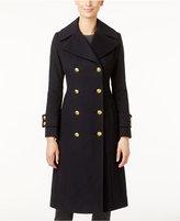 Anne Klein Double-Breasted Wool-Cashmere-Blend Walker Coat