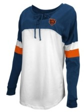 5th & Ocean Chicago Bears Women's Lace Up Long Sleeve T-Shirt