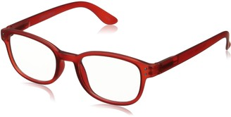Corinne McCormack Women's Red Color Spex 1015410-150.CMC Square Reading Glasses