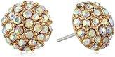 "Betsey Johnson Luminous Betsey"" Crystal Fireball Round Stud Earrings"