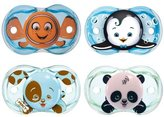 Razbaby Keep-It-Kleen Pacifiers - Pack of 4 (Finley Clown Fish, Ethan Penguin...