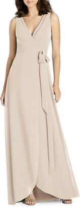 Jenny Packham Chiffon Wrap Gown