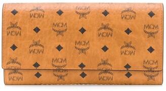 MCM Visetos-print leather wallet