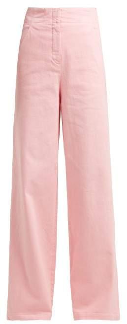 Tibi High Rise Wide Leg Jeans - Womens - Pink