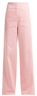 Tibi High-rise Wide-leg Jeans - Womens - Pink