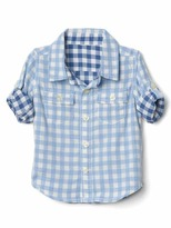 Gap Gingham double-weave convertible shirt