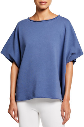 Frank And Eileen Capelet Raw-Edge Tee, Blue