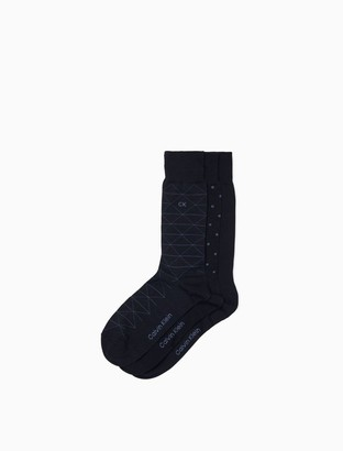 3-Pack Cotton Ribbed Crew Socks
