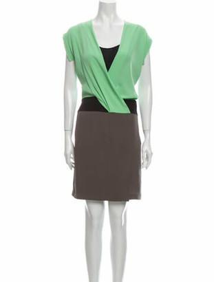 Diane von Furstenberg Silk Knee-Length Dress w/ Tags Grey
