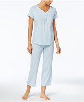 Charter Club Printed Cotton Henley Top & Pants Pajama Set, Created for Macy's