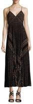A.L.C. Katia Printed Pintuck Pleat Maxi Dress