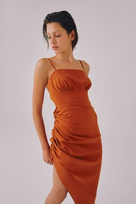 C/Meo POWERHOUSE DRESS rust