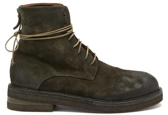 Marsèll Suede Lace-up Boots - Dark Green