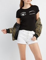 Charlotte Russe Wink Graphic Tee