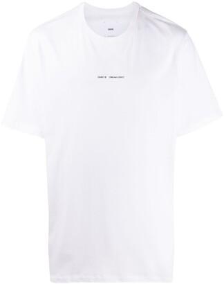 Oamc logo floral print T-shirt