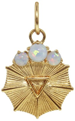 Foundrae Miniature Water Element Medallion - Yellow Gold