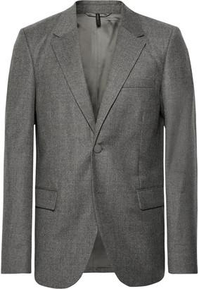 Helmut Lang Grey Unstructured Wool Blazer