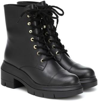 Stuart Weitzman Nisha leather combat boots